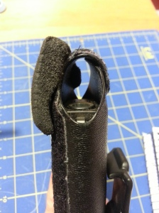 The foam wedge makes the holster that much more comfortable and concealable.
